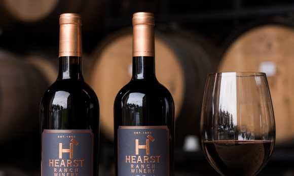Hearst Ranch Winery Barrel Room