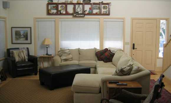 Living Room with new couch and easy chair
