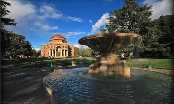 Sunken Gardens Fountain and City Hall by Another Rick Evans Photo.jpg