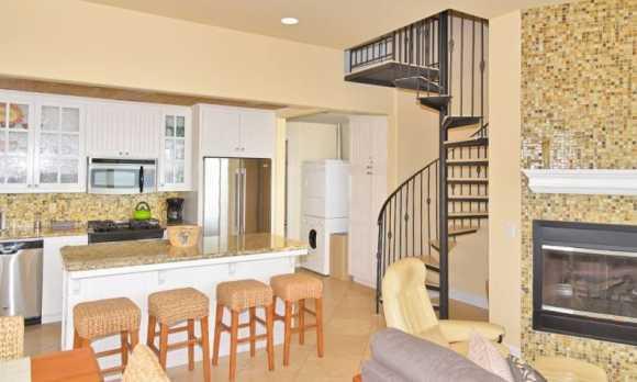 Kitchen & Spiral Staircase