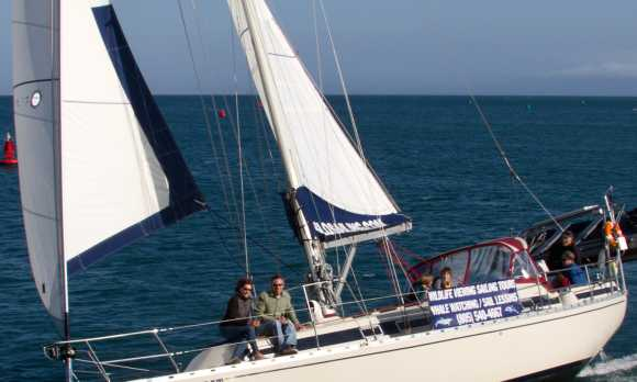 Sailing with family and friends