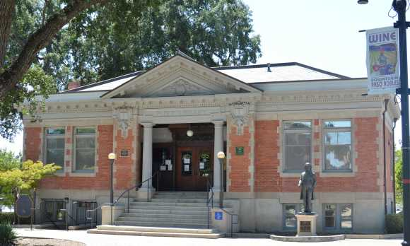 Carnegie Library in Paso Robles Downtown City Park.
