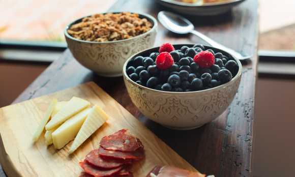 European Continental Breakfast at La Lomita Ranch