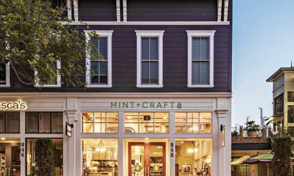 Mint + Craft Entrance