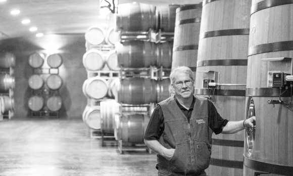 Winemaker - Don Brady - in the Cavern