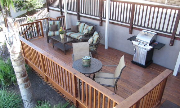 Your private deck includes a BBQ grill.