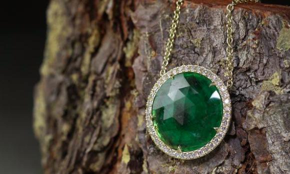Emerald Slice Necklace