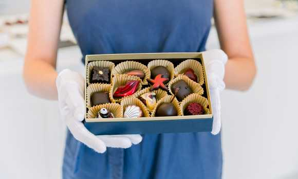 White Glove Chocolate Box