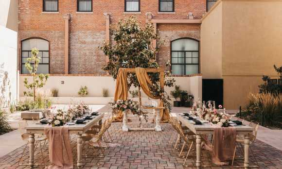 Courtyard Reception Tables