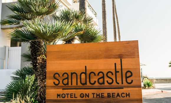 Sandcastle Hotel on the Beach Sign