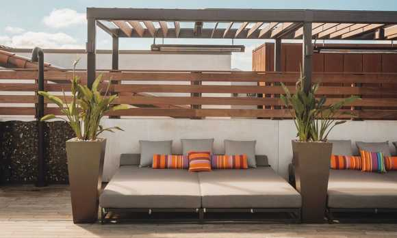 Cabanas at Rooftop Pool Deck