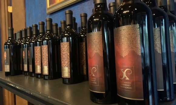 Bottles of LXV wine