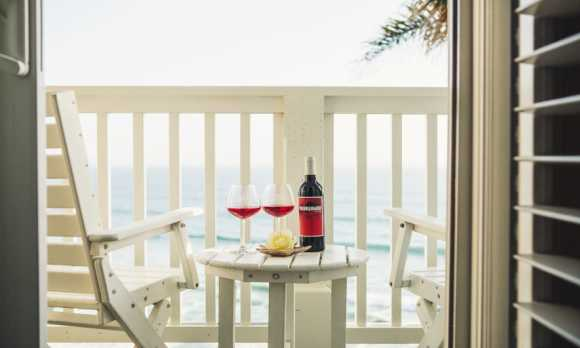 Oceanfront Balcony at Pismo Lighthouse Suites