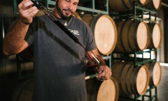 Barrel Tasting at CASS Winery