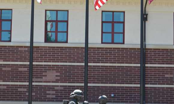 Reward for valor sculpture in Paso Robles.