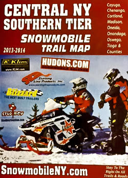 2013 snowmobile trail map brochure