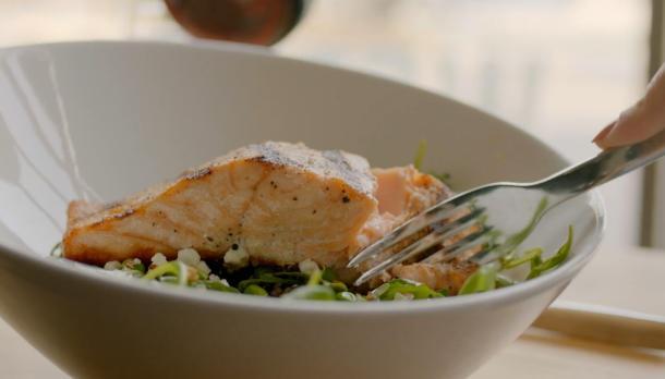 fish dish at chilled cork