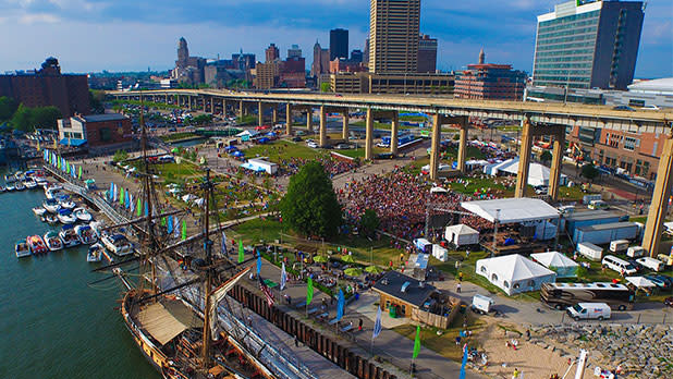 Crowds attending festival at Buffalo Canalside and Harborfront