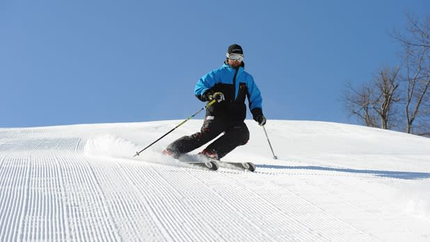 Man Skiing at Catamount