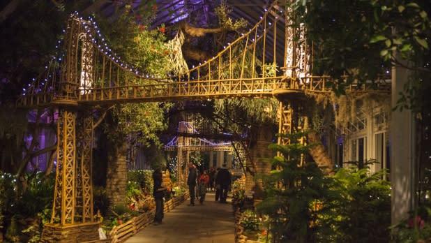 Holiday Train Show Bridge at New York's Botanical Garden