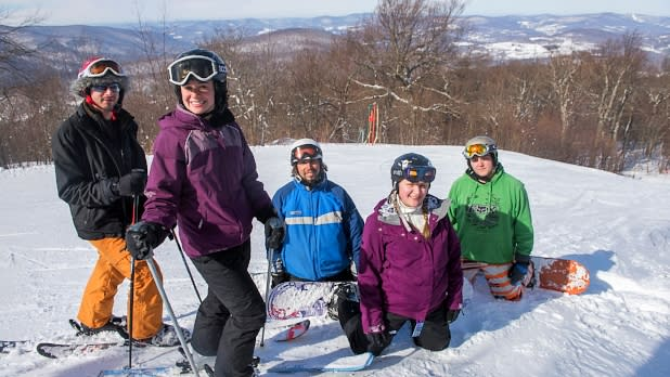 Skiers at Belleayre Mountain