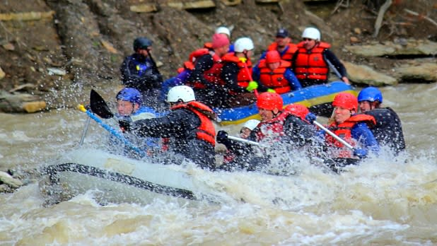 Zoar Valley whitewater rafting