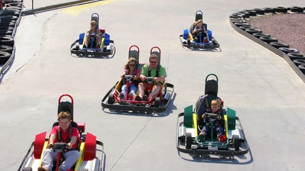 Family Racing Go-Karts at Clubhouse Fun Center in NY