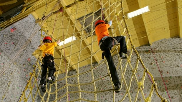 Kids Climbing Net at Rock Ventures in NY