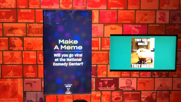 Make A Meme exhibit at the National Comedy Center