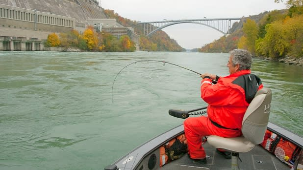Man fishing on Niagara Region Charter Service