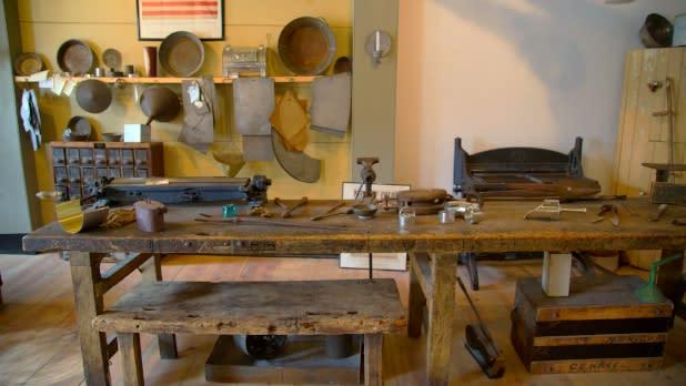 Interior of Starr Clark Tin Shop and Underground Railroad Museum