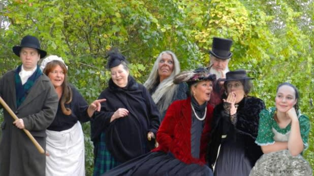 Ghostly characters at Marble Orchard Ghost Walk