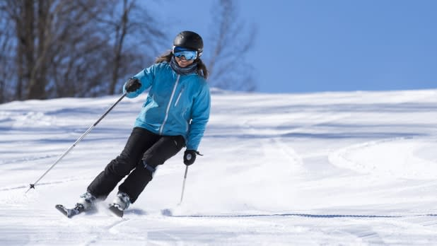 Woman Skiing on Titus Mountain