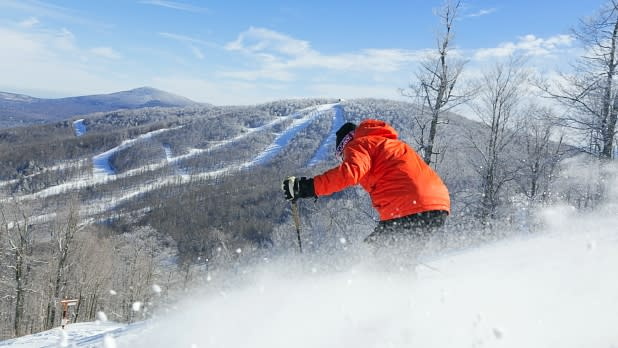 Skier on Windham Mountain