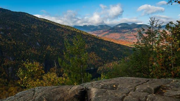 Partial view of High Peaks from Zander Scott Ridge Trail