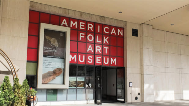 The facade of the American Folk Art Museum