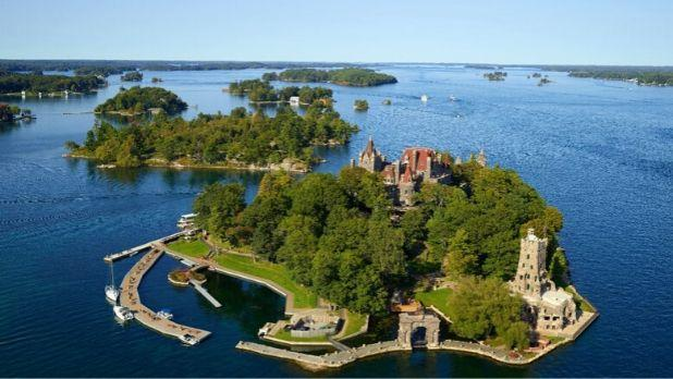 Boldt Castle aerial view