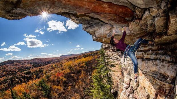Shawagunk Rock Climbing; Credit: @chris_vultaggio