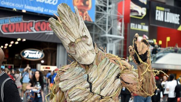 Groot from the Avengers at New York Comic Con