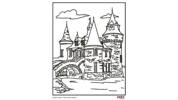 Boldt Castle coloring page