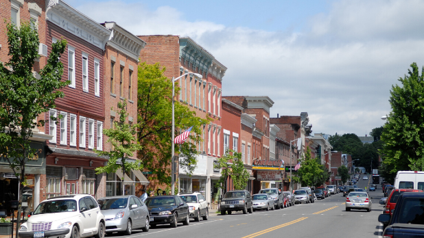 Buildings on Main Street in Catskill