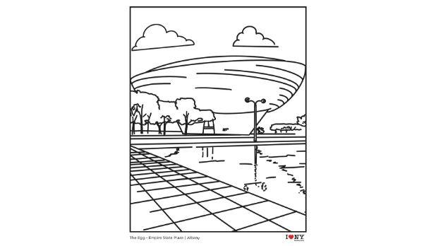 The Egg coloring page