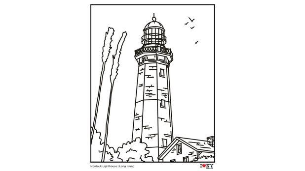 Montauk Lighthouse coloring page