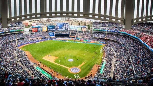 New York City Football Club playing at Yankee Stadium