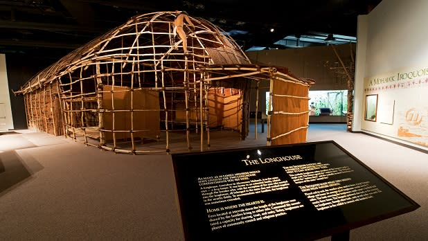 The Longhouse at the New York State Museum