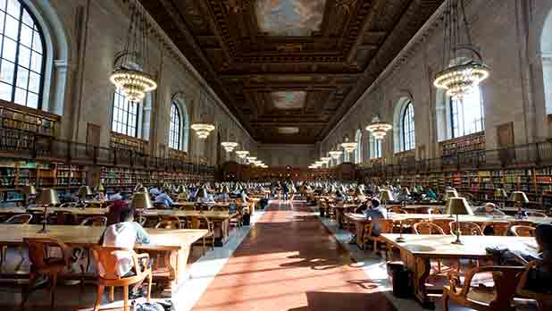 Interior of the NY Public Library