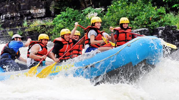 Rafting on the Black River in the Thousand Island w Whitewater Challenger
