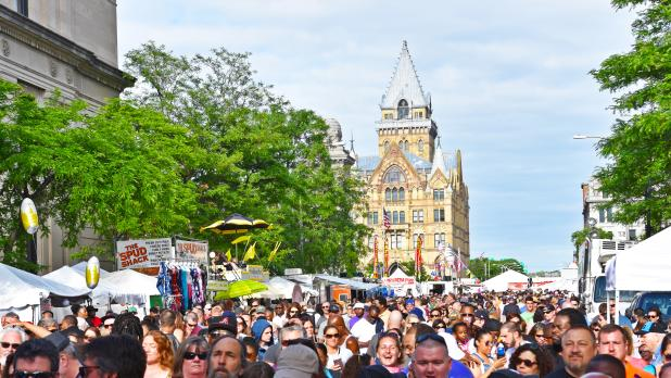 Crowd at the Taste of Syracuse