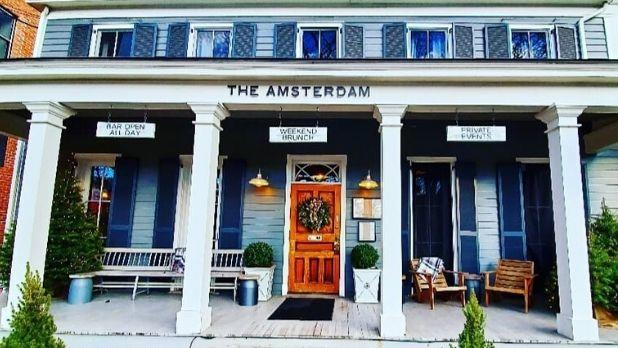 A photo of the exterior of The Amsterdam restaurant