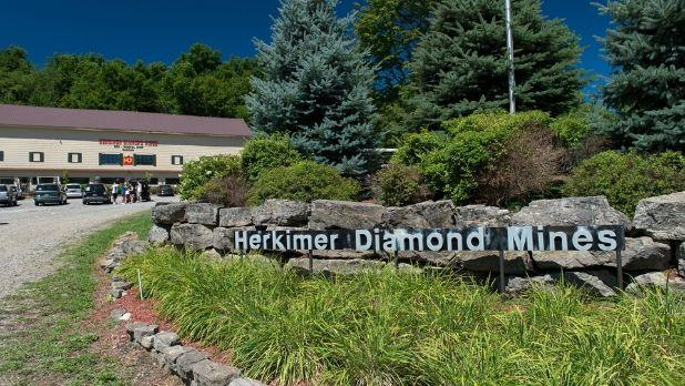 The entry to the Herkimer Diamond Mines building